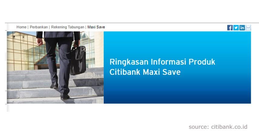 Citibank Maxi Save - Produk Tabungan Citibank Terbaik