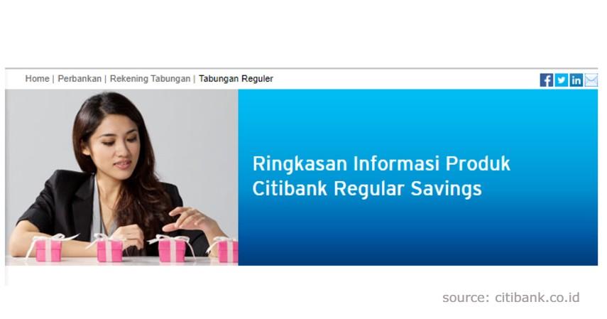 Citibank Regular Savings - Produk Tabungan Citibank Terbaik