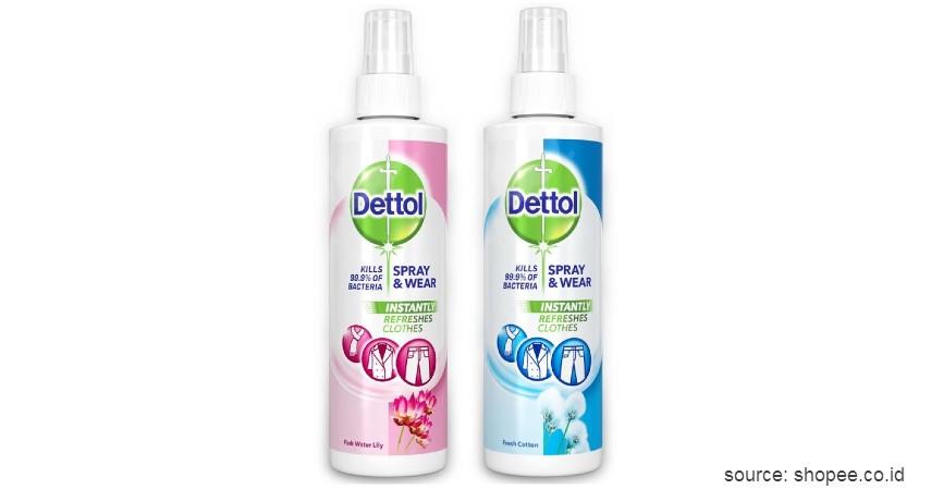 Dettol Spray and Wear - Rekomendasi Merk Disinfektan Ruangan Terbaik