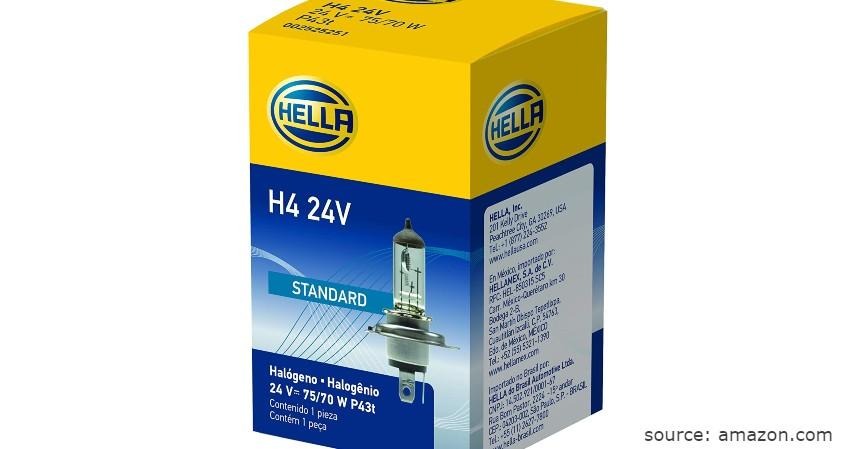 Hella Bohlam Lampu Halogen H4 - Merk Lampu Halogen Mobil Terbaik