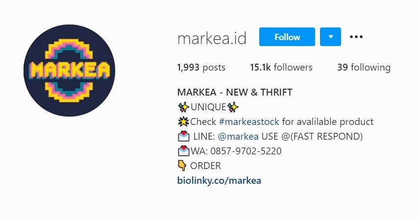 Markea id - Rekomendasi Toko Thrift Online Terbaik di Instagram dan Shopee