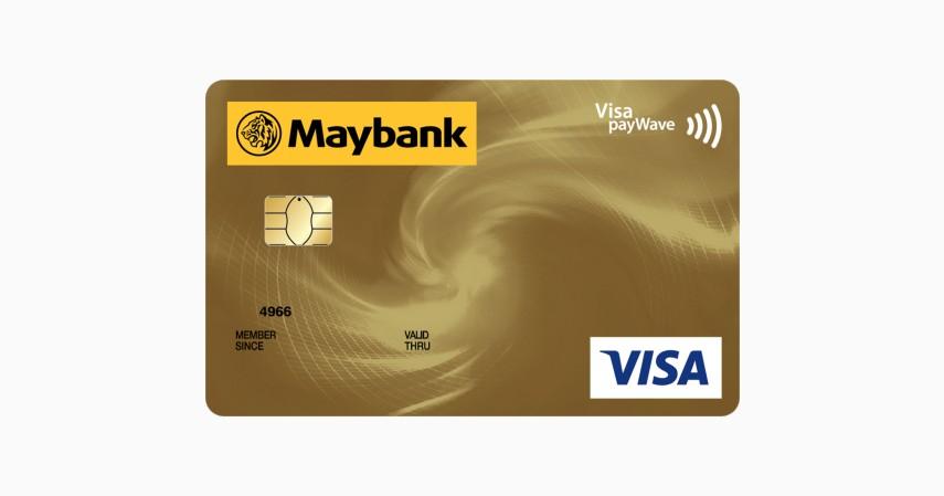 Maybank Visa Gold - 5 Kartu Kredit Terbaik Tanpa Iuran Tahunan
