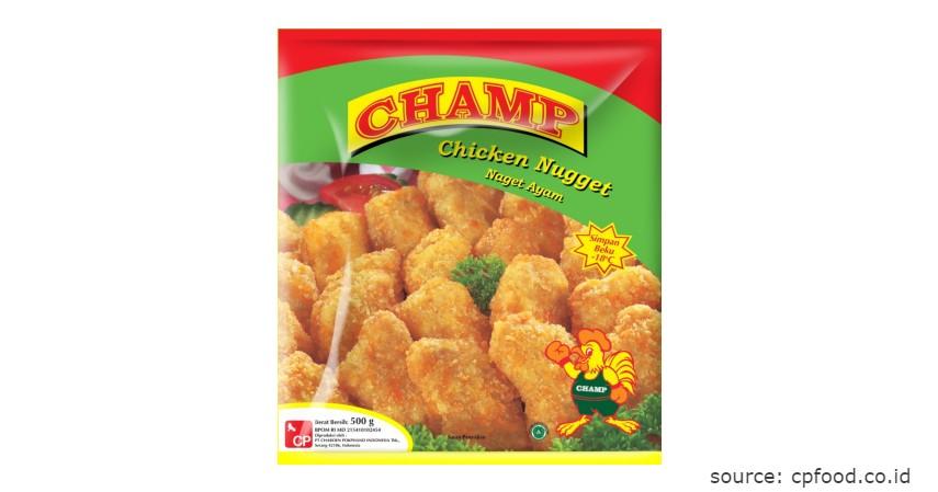 Merk Champ - Rekomendasi Chicken Nugget Terbaik beserta Nilai Gizinya