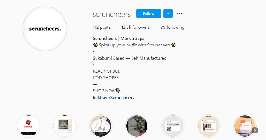 Scruncheers - 8 Rekomendasi Olshop Strap Masker