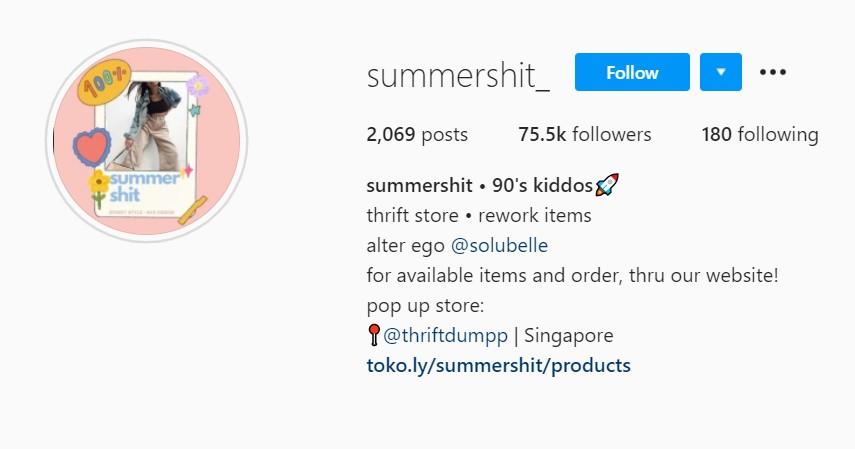 Summershit - Rekomendasi Toko Thrift Online Terbaik di Instagram dan Shopee