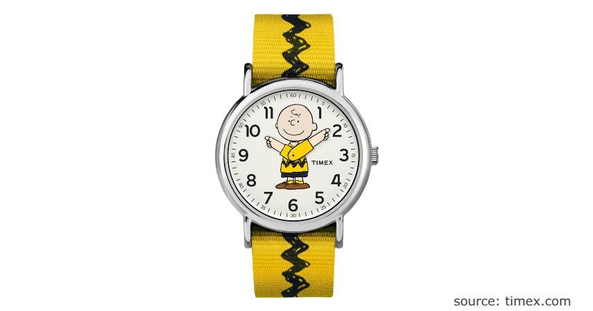 Timex x Peanuts - Charlie Brown 38mm Fabric Strap Watch - 9 Jam Wanita Anti Air Terbaik