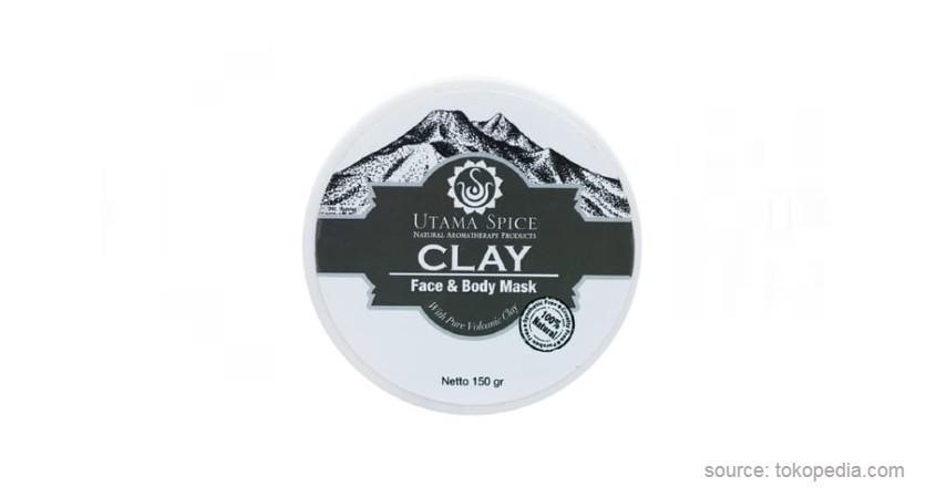 Utama Spice Face and Body Clay - 10 Merk Masker Organik Terbaik 2021