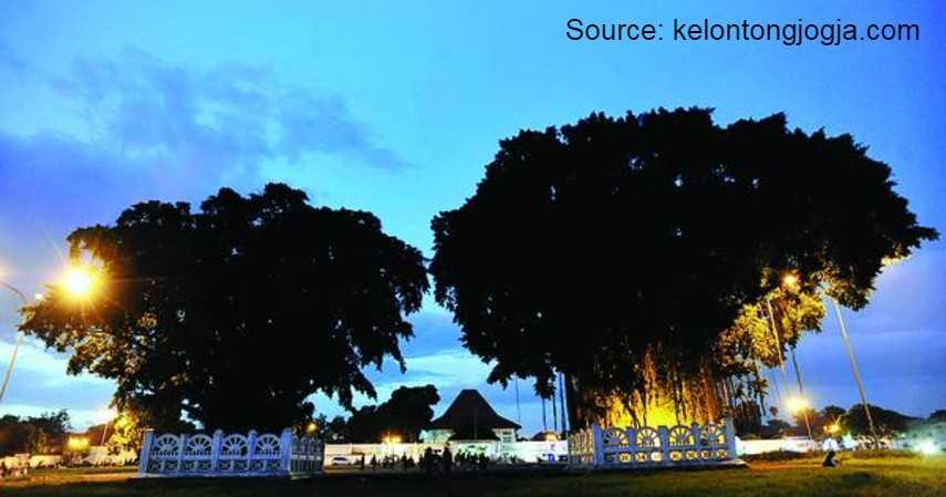 Wisata Indonesia yang Terkenal Memiliki Mitos - Pohon Beringin Kembar – Alun-alun Yogyakarta