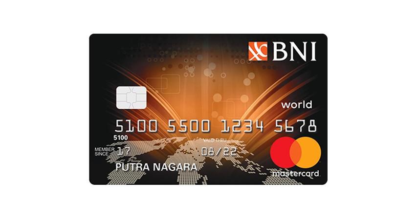 BNI MasterCard World - 5 Rekomendasi Kartu Kredit BNI Terbaik
