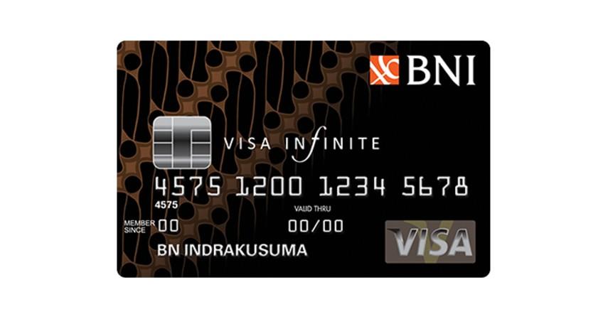 BNI Visa Infinite - 10 Kartu Kredit Limit Besar Terbaik 2021