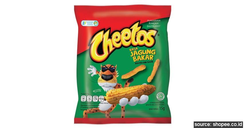 Cheetos - 10 Daftar Snack Jadul Anak SD Generasi 90an