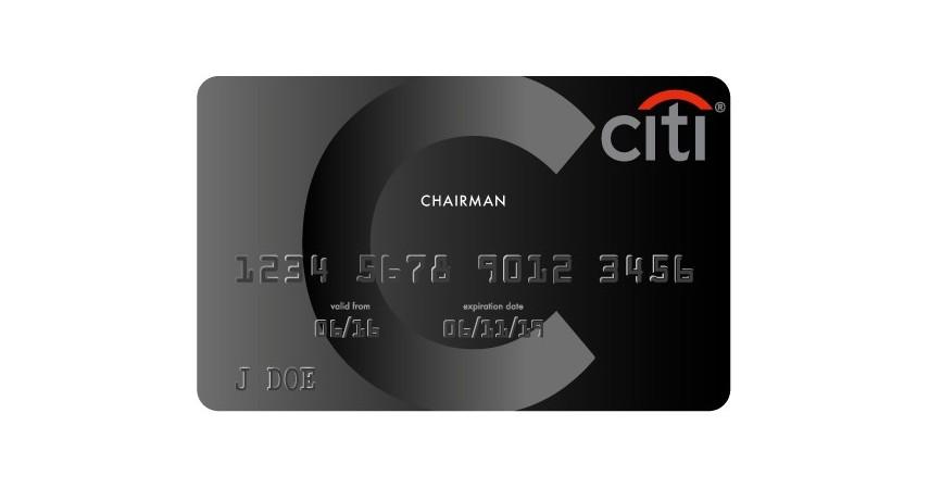 Citigroup Chairman Card - Kartu Kredit Khusus Orang Kaya Limit Miliaran Rupiah Sampai Tak Terhingga