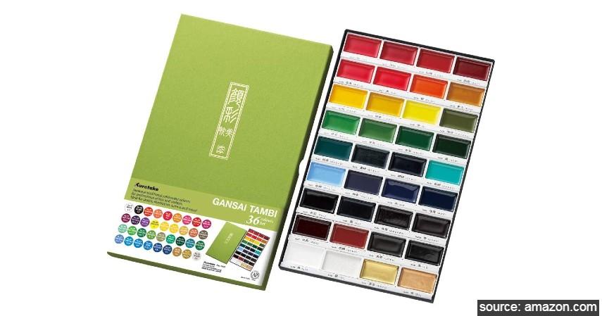 Kuretake Gansai Tambi Watercolor Palette - 8 Merk Cat Air Terbaik