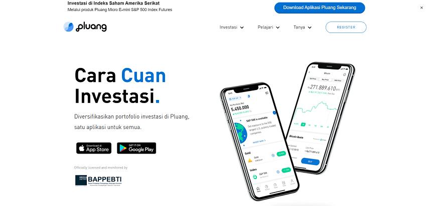 Pluang - 8 Aplikasi Investasi Emas Online Terbaik