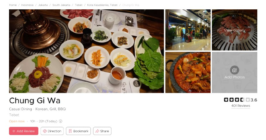 Restoran Korea Terpopuler di Jakarta Bercita Rasa LezatSiap-siap Lidah Bergoyang - Chung Gi Wa
