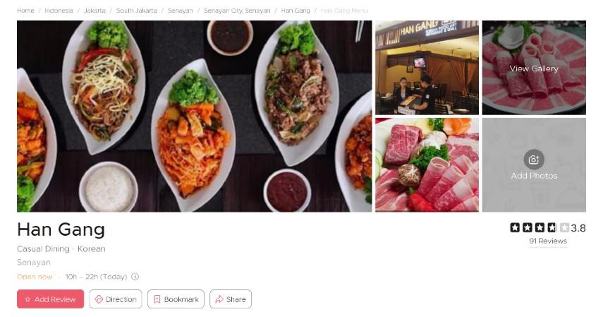 Restoran Korea Terpopuler di Jakarta Bercita Rasa LezatSiap-siap Lidah Bergoyang - Han Gang