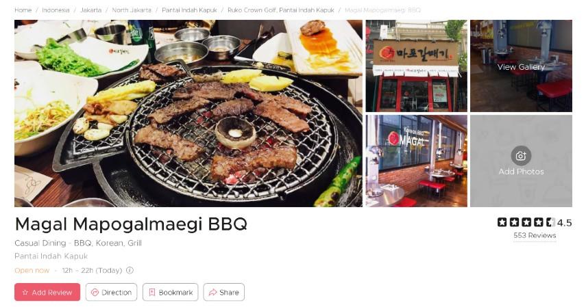 Restoran Korea Terpopuler di Jakarta Bercita Rasa LezatSiap-siap Lidah Bergoyang - Magal Mapogalmaegi BBQ