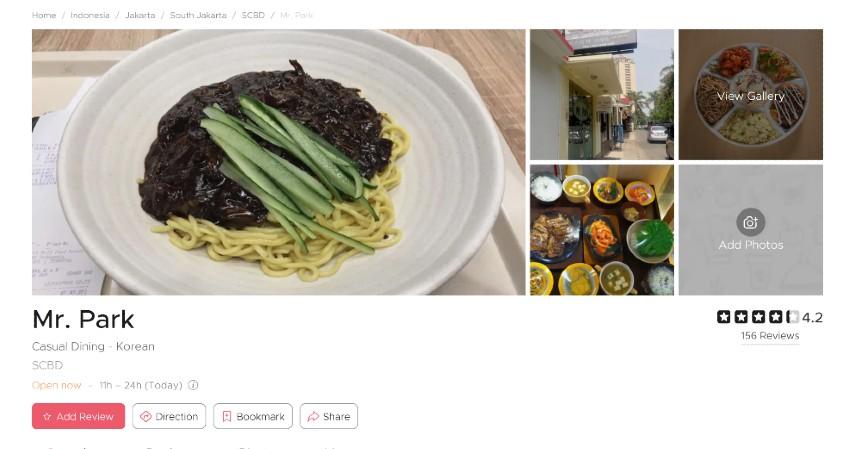Restoran Korea Terpopuler di Jakarta Bercita Rasa LezatSiap-siap Lidah Bergoyang - Mr. Park