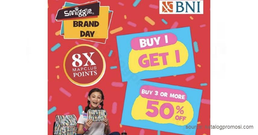 SMIGGLE Promo BIG 1 - Promo Kartu Kredit BNI Maret 2021