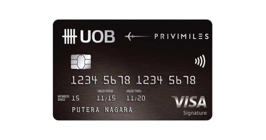 UOB Privi Miles - 10 Kartu Kredit Limit Besar Terbaik 2021