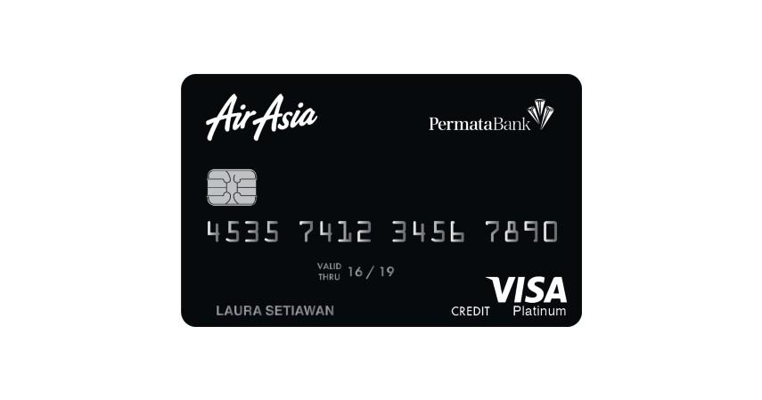 Air Asia Platinum Credit Card - Jenis-Jenis Kartu Kredit Permata Bank yang Bisa Kamu Pilih