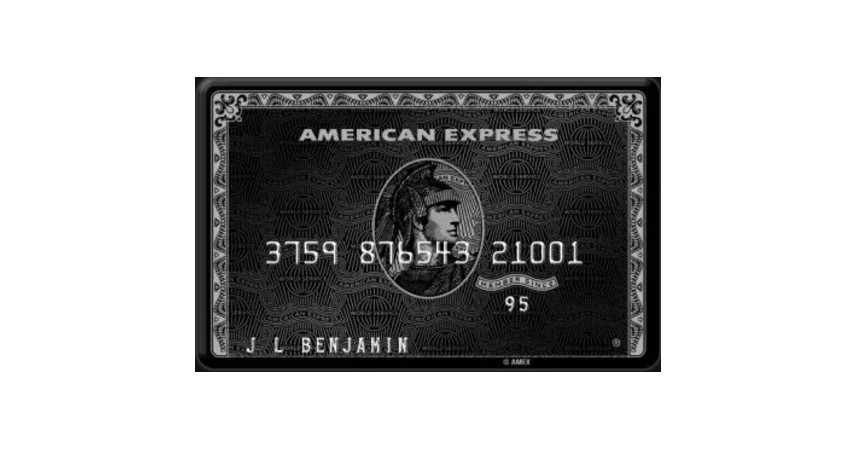 American Express Centurion Card - 6 Kartu Kredit Paling Terkenal di Dunia