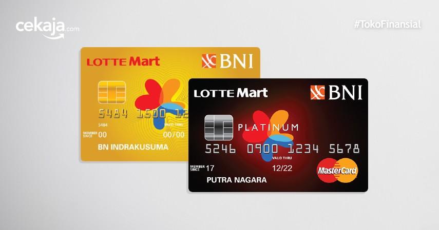 Perbedaan BNI Mastercard Lotte Mart Gold dan BNI Mastercard Lotte Mart Platinum