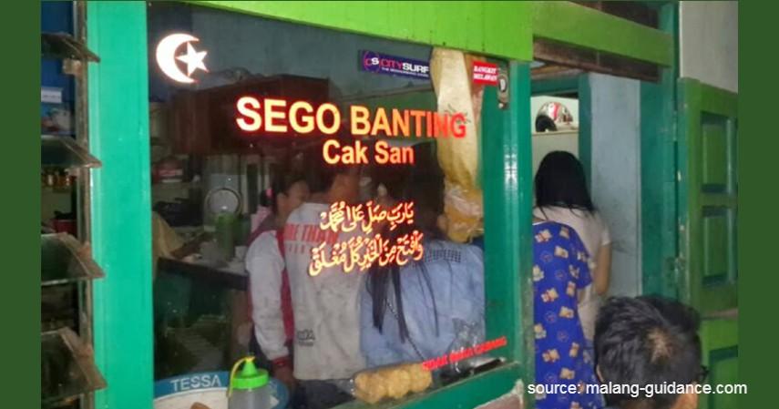Sego Banting Cak San - Kuliner di Malang untuk Sahur