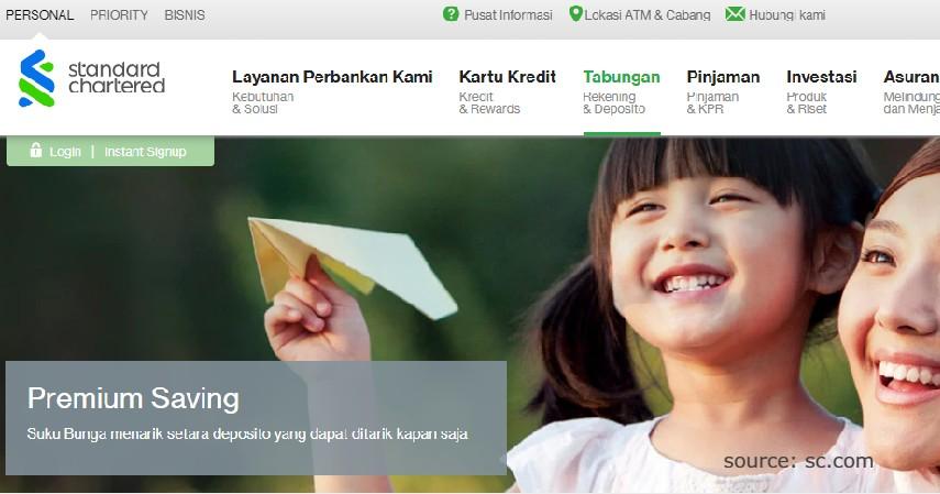 Premium Saving - Produk Tabungan Standard Chartered Bank