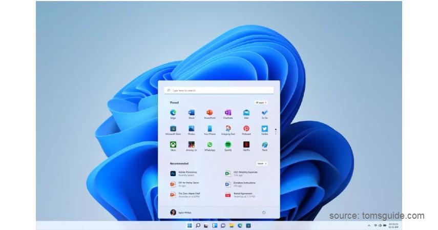 Start Menu - Fitur Terbaru Windows 11