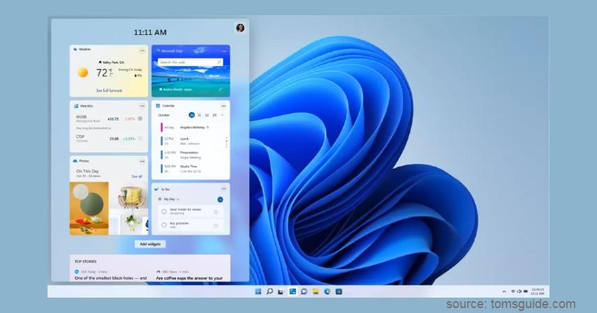 Widgets - Fitur Terbaru Windows 11