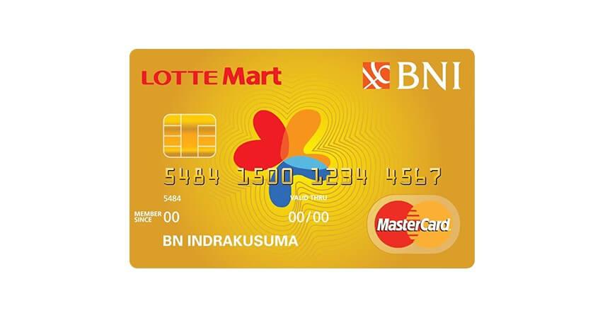 BNI Mastercard Lottemart Gold - 5 Kartu Kredit untuk Usia 17 Tahun