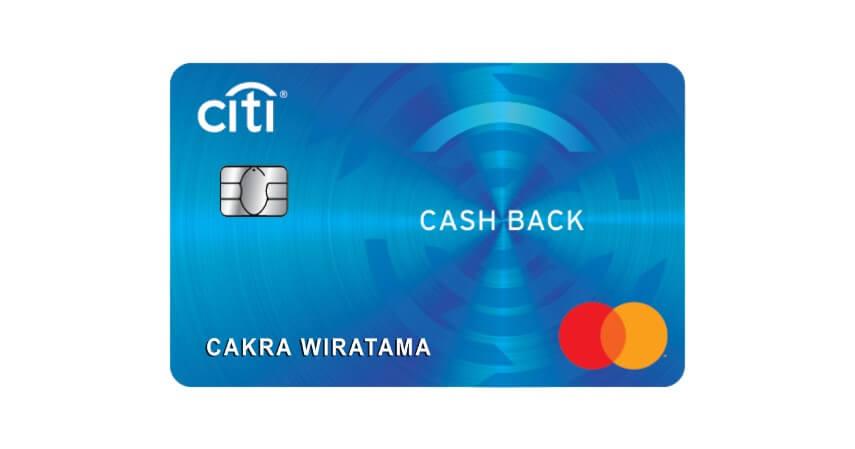 Citi Cash Back Card - 5 Kartu Kredit untuk Usia 17 Tahun