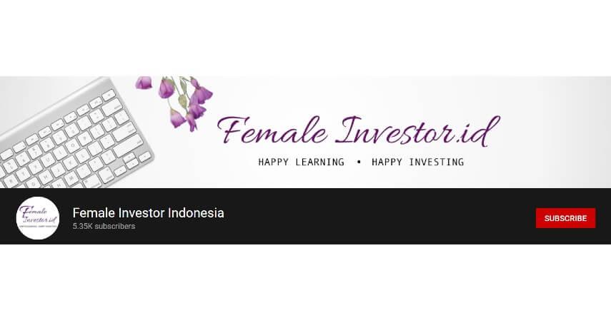 Female Investor Indonesia - 8 Rekomendasi Channel YouTube Tentang Investasi untuk Pemula