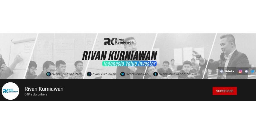 Rivan Kurniawan - 8 Rekomendasi Channel YouTube Tentang Investasi untuk Pemula