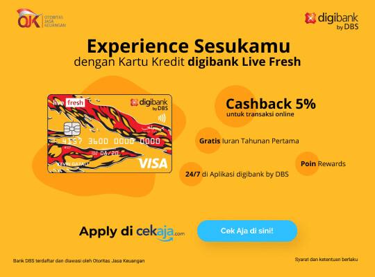 Kartu Kredit Digibank Live Fresh