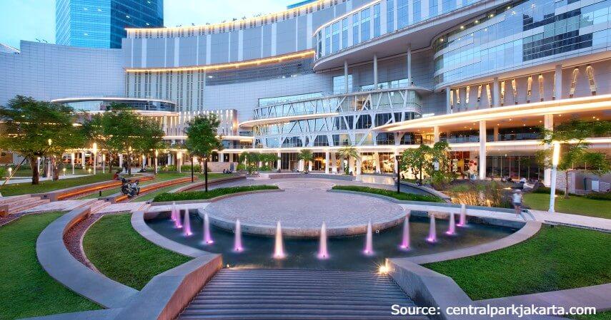 Central Park - 10 Daftar Mall Terbesar di Jakarta dengan Fasilitas Lengkap