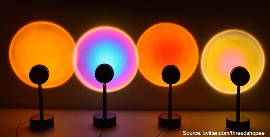 Lampu Sunset Aesthetic - 10 Rekomendasi Lampu Tidur Terbaik Desain Unik Harga Terjangkau