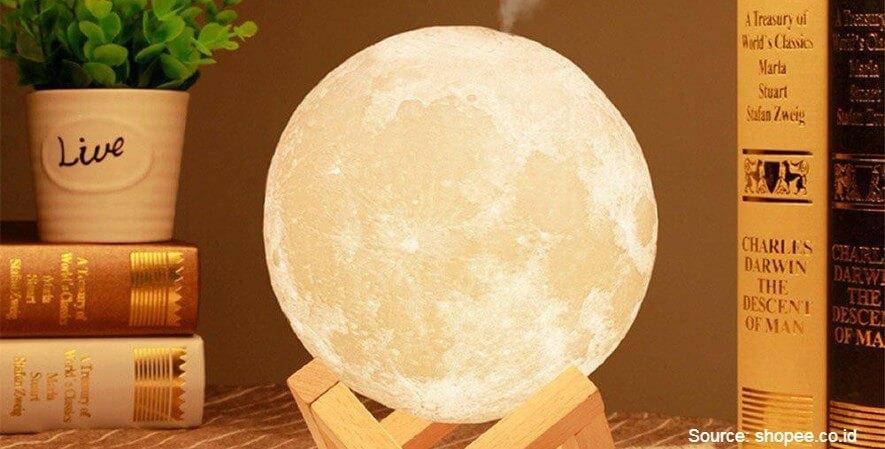 Lampu Tidur Bulan Humidifier - 10 Rekomendasi Lampu Tidur Terbaik Desain Unik Harga Terjangkau