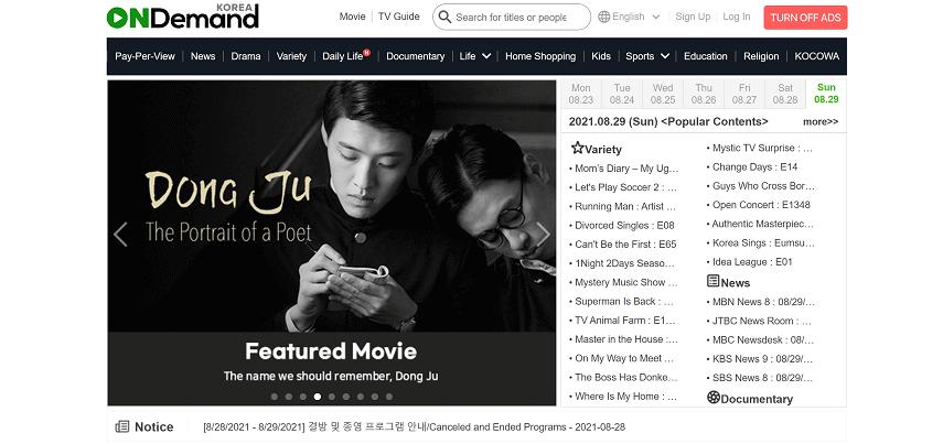 On Demand Korea - 10 Situs Nonton Drama Korea Sub Indo Gratis dan legal 2021