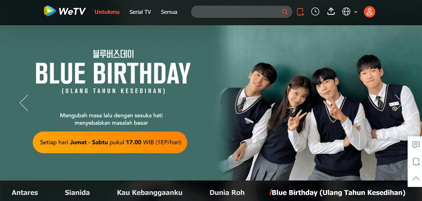 WeTV - 10 Situs Nonton Drama Korea Sub Indo Gratis dan legal 2021