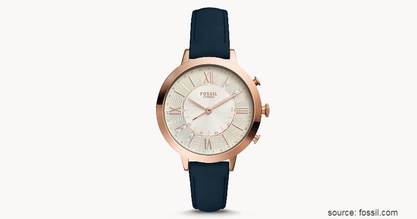 Fossil Hybrid Smartwatch Jacqueline Blush Silicone - 11 Smartwatch Terbaik untuk Wanita